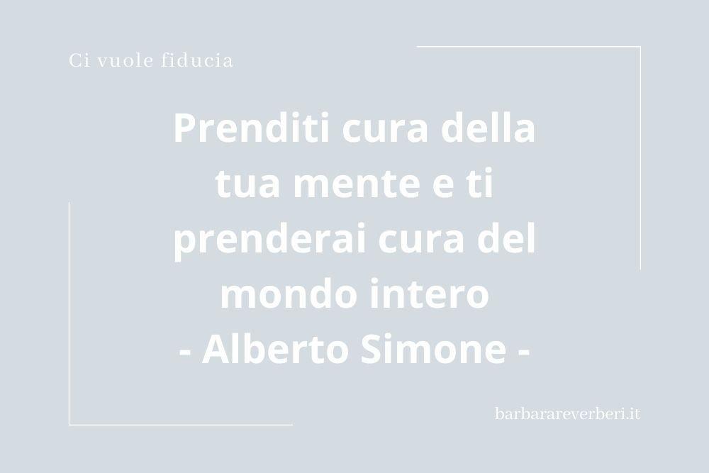 Aforisma sulla soluzione ai pensieri negativi di Alberto Simone