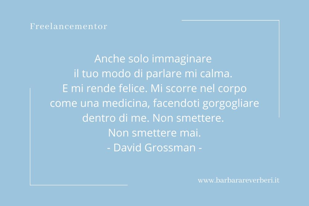 Aforisma sulla voce di David Grossman